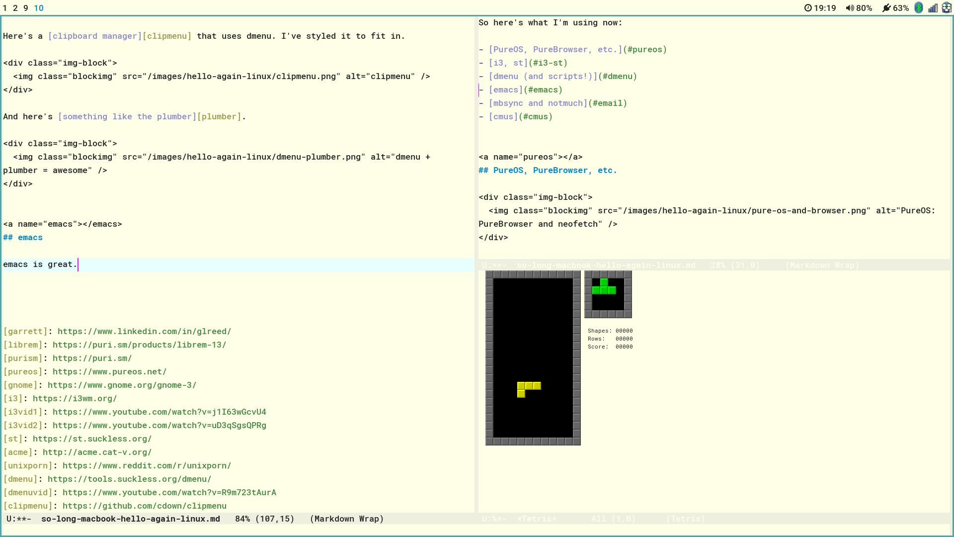 So long, Macbook  Hello again, Linux  // Richard Mavis dot info
